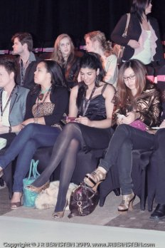 Front row at Toronto Fashion week