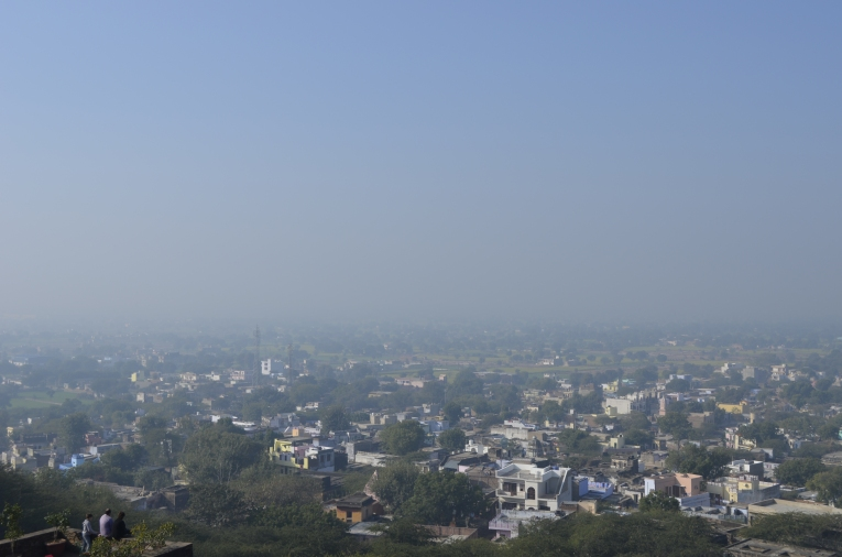 view of the District of Alwar from upper balconies